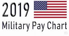 Us Army Reserve Pay Chart 2019 2019 Military Pay Chart 2 6 All Pay Grades