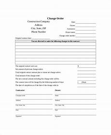Change Order Form Template Free Free 9 Sample Printable Order Forms In Ms Word Pdf