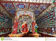 the dunhuang mogao grottoes fresco in gansu editorial