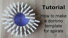 How To Make Templates Tutorial How To Make A Domino Template For Spirals Youtube