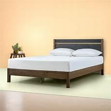zinus stefan 38 quot wood platform bed with headboard king