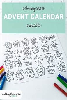 Malvorlagen Advent Calendar Print This For Advent Calendar Coloring