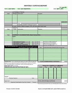 Small Business Expense Report Template Monthly Expense Report Template Charlotte Clergy Coalition