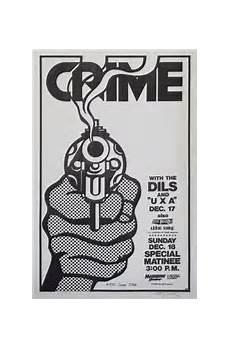 Crime Poster Design Crime With The Dils Original Punk Concert Poster Original