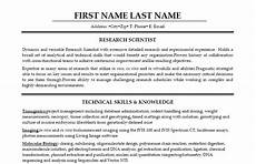 Scientist Resume Templates 11 Best Best Research Assistant Resume Templates Amp Samples