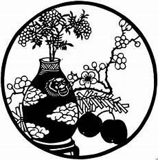 japan blume in vase ausmalbild malvorlage blumen