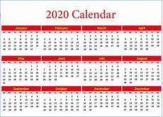 Yearly Calendar 2015 2020 2020 2020 Calendar Template Pdf Word Excel Format Download