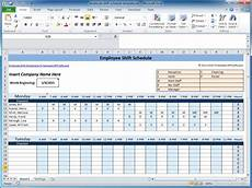 Shift Roster Format Weekly Employee Shift Schedule Template Excel Task List