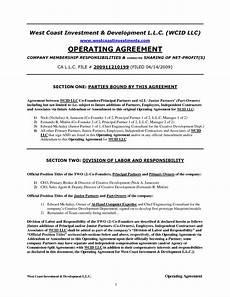 Example Llc Operating Agreement Sample Operating Agreement Emmamcintyrephotography Com