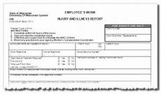 Workers Comp Incident Report Form Forms Worker S Compensation