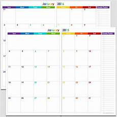 24 Month Planner 24 Months 2 Page Calendar Half Size Legacy Templates
