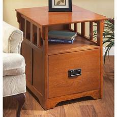mission style end table file cabinet 144522 office
