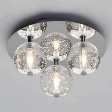 Ball Ceiling Light Droplet 3 Light Led Glass Ball Flush Ceiling Light Chrome