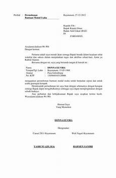13 contoh surat permohonan dana izin bantuan kerja dll
