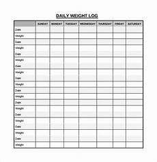 Weight Loss Record Sheet Free 15 Sample Daily Log Templates In Pdf Ms Word