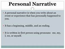 Narrative Essay Definition And Examples Personal Narrative Notes