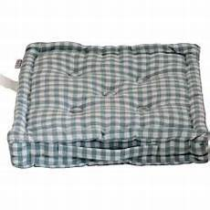 homescapes cotton gingham check blue floor cushion floor