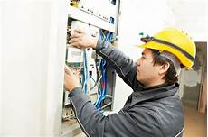 Maintenance Electrician Electrician Installing Energy Saving Meter Center For