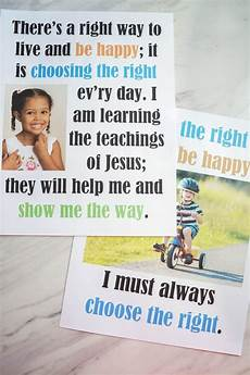 Music Flip Chart Choose The Right Way Flip Chart Primary Singing