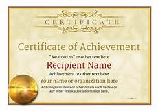 Certificates Of Achievement Free Templates Certificate Of Achievement Free Templates Easy To Use
