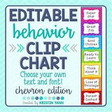 Chevron Behavior Clip Chart Behavior Clip Chart Chevron Editable By School And The
