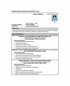 Fresher Accountant Resume Sample Chartered Accountant Resume Template 5 Free Word Pdf