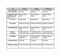 Lesson Plans For Toddlers Free Sample Toddler Lesson Plan Templates In Pages
