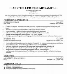 Resume For Bank Teller Position Bank Teller Resume Sample Resume Objective Examples