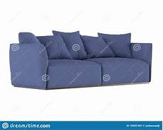 Sofa Cushions 3d Image by Blue Soft Sofa With Cushions 3d Rendering Stock