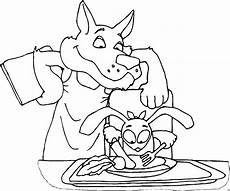 Ausmalbilder Hase Und Wolf Wolf Fuettert Hase Ausmalbild Malvorlage Nahrung