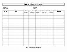 Inventory Log Sheet This Printable Inventory Control Log Keeps Track Of Stock