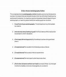 Autobiography Writing Template 24 Autobiography Outline Templates Amp Samples Doc Pdf