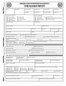 Volunteer Fire Department Incident Report Template Report Template Fire Department Incident Form Accident And