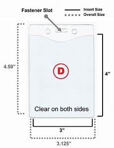 Id Cards Size 5 Clear Vinyl Badge Holder Id Card 4 Sizes Available Ebay