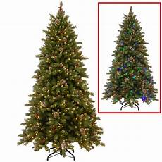 7 5 Foot Dual Light Christmas Tree National Tree Company 7 5 Ft Powerconnect Snowy Berry