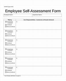Employee Assessment Form Free 55 Sample Self Assessment Forms In Pdf Ms Word Excel