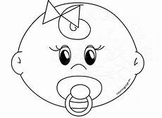 Baby Girl Coloring Pages Cute Girl Baby Faces Coloring Pages Printable Coloring Page