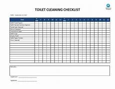 Bathroom Cleaning Checklist Template Toilet Cleaning Checklist Templates At
