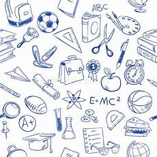back to school education vector doodles pencil drawing