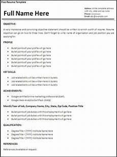 Resume Of Job Application Job Resume Template