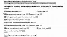 Business Plan Marketing And Sales Strategy Instructions