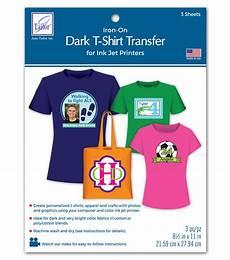 T Shirt Transfer Dark T Shirt Transfer Paper For Ink Jet Printers 3 Pkg Joann