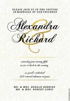 Invitation Formats Free Wedding Invitation Template 71 Free Printable Word Pdf