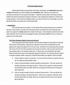 Sample Of Argument Essay Free 16 Argumentative Writing Samples Amp Templates In Pdf