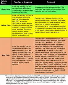 Asthma Action Plan Chart Personalized Asthma Action Plan Instructions For Each Zone