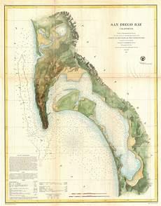 San Diego Bay Depth Chart File 1857 U S C S Map Of San Diego Bay California