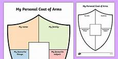 Design A Coat Of Arms Ks2 Free Personal Shield Transition Writing Frame