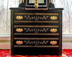 sold handpainted highboy dresser chest of drawers