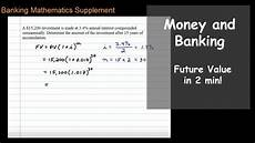 Future Value Of Future Value With Interest Compounded Semiannually Youtube