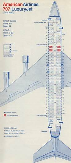 American Airlines 747 Seating Chart American Airlines 707 Seating Chart Quot American Airlines